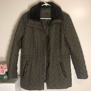 EUC Marc New York Olive Green Quilted Puffer Parka